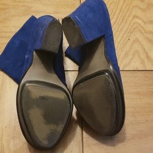 Zara Shoes - Zara Blue Faux Suede Booties
